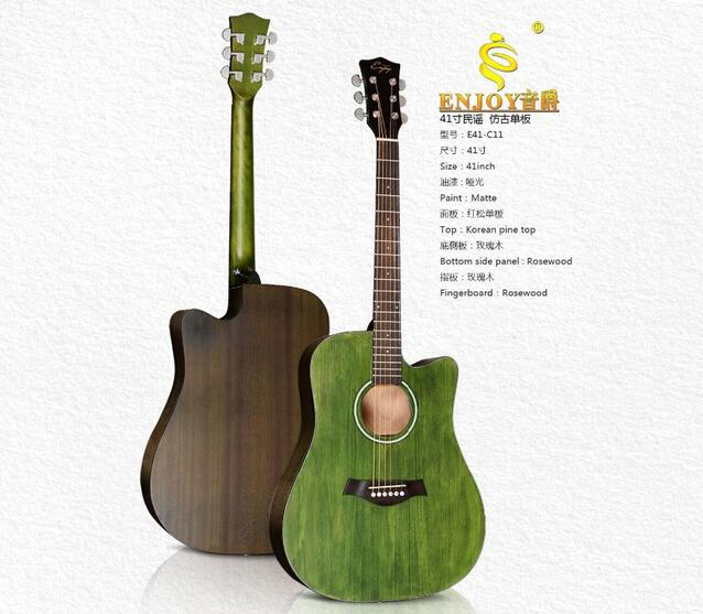 E41-C11 Archaize Solid Top Beautiful Acoustic Guitar Supplier
