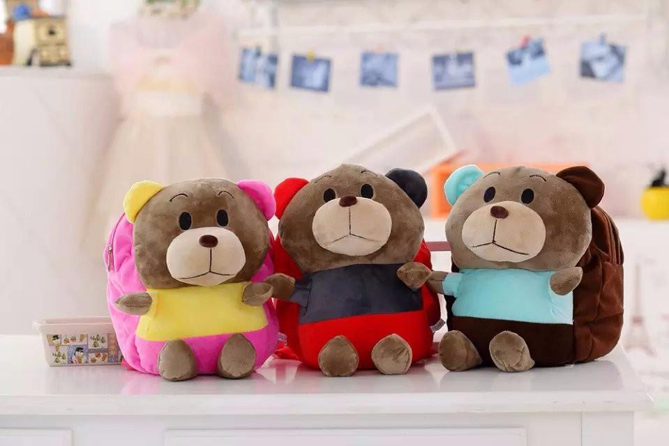 plush cool bear backpack
