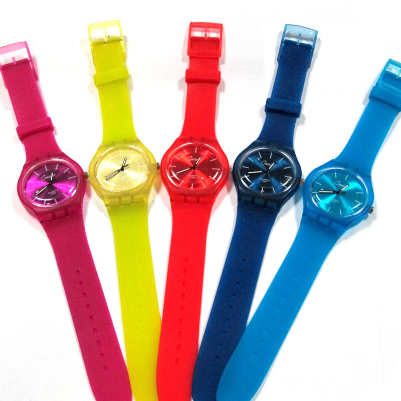promotion items japan movt lovely plastic watch