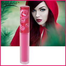 Custom frosted lip gloss tube private label magic long lasting waterproof matte lip gloss lipstick