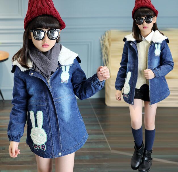 zm32565a lovely cartoon pattern child winter sport coats stylish childrens denim jackets