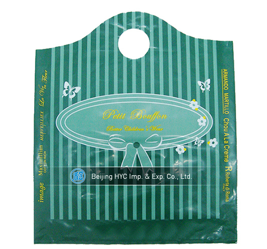 New punch hole style ldpe plastic bag
