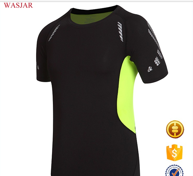 Chinese Custom semi compressive sport mountain dri fit shirt sport style t-shirt for men