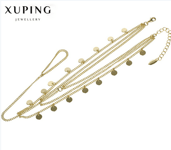 Xuping Jewelry gold anklet designs,anklets for women
