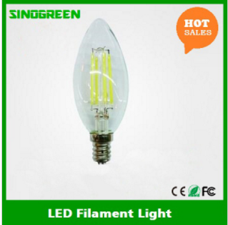 Clear Frosted LED Filament Bulb Dimmable C35 E12 4W LED Candle Bulb
