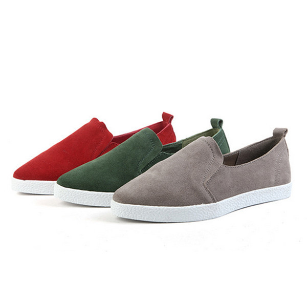 New products sweet woman suede casual flat shoes