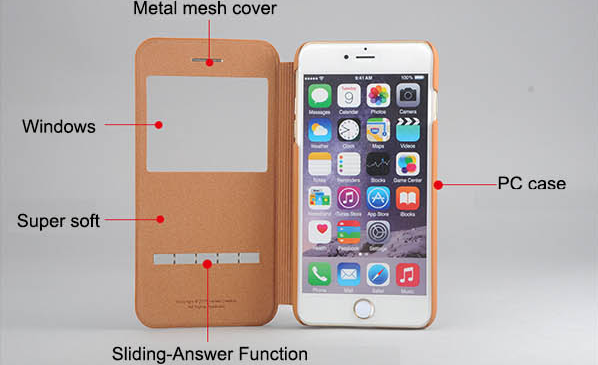 New Products for iPhone 6s Leather Case, Soft Feel Case for Apple 6s