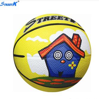 2016 high grip yellow rubber basketball wholesale