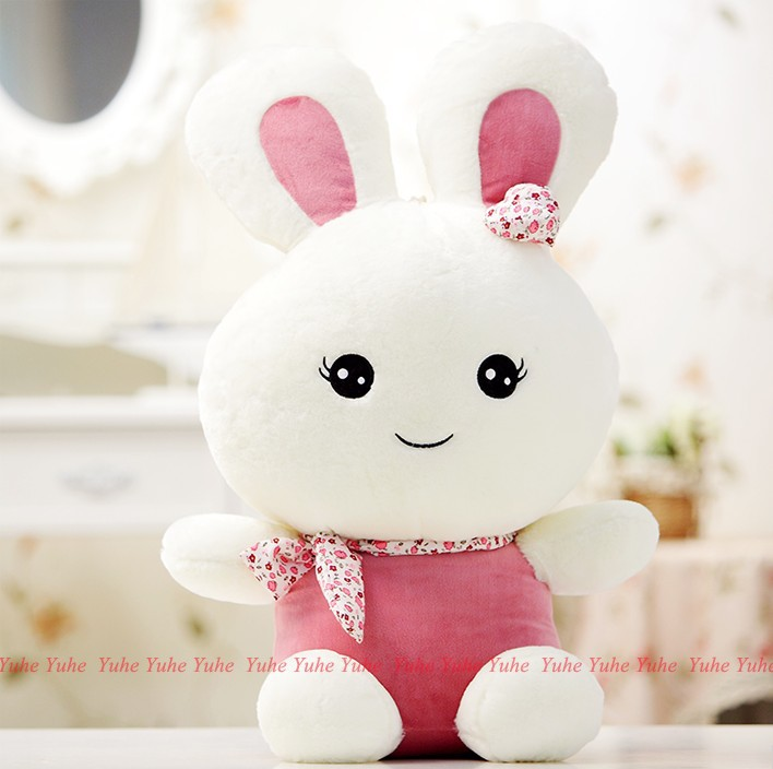 2017 breathing pink rabbit plush soft toy