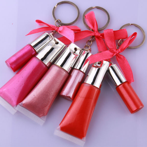 key ring lip gloss waterproof make glossy