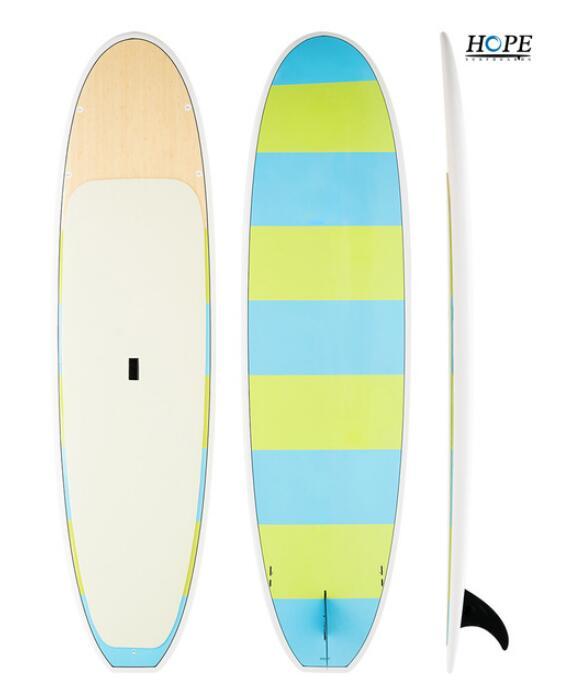 bamboo veneer paddleboard Epoxy fiberglass stand up paddle board