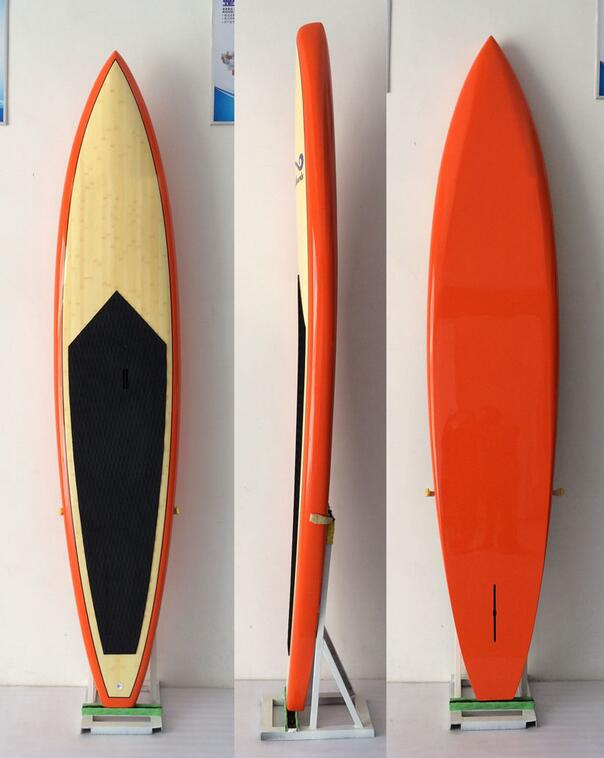 Surfboard type race SUP paddle board / Made in China bamboo fiber SUP race board
