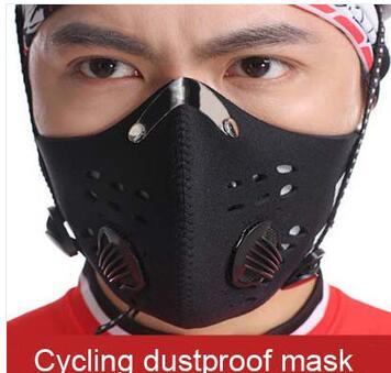 Hot selling Dustproof Cycling Face Mask With Activated Carbon Filter