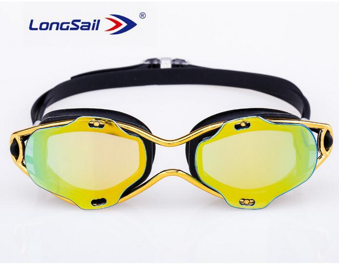 Swimming Goggles with FREE PS CASE, Anti-Fog AND Mirrored lens