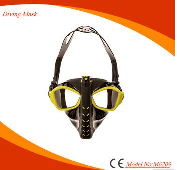 Scuba diving silicone full face snorkeling mask for adult