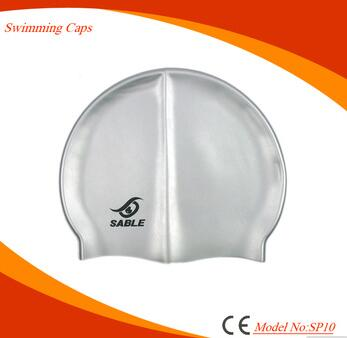 Wholesale waterproof custom logo silicone swimming hats for adult