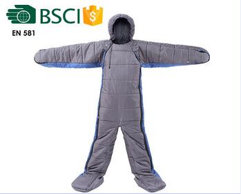 Human body shape sleeping bag
