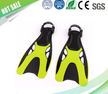 high quality yellow fashion diving flipper diving equipemnt rubber swimming fins
