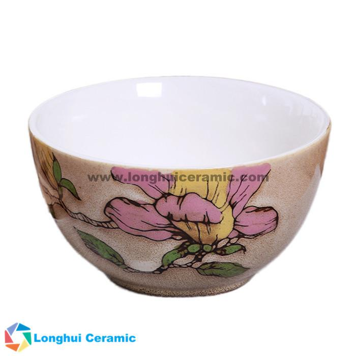 4.5'' Fine flower handpainted ceramic bowl