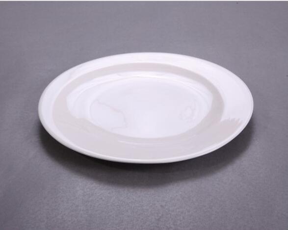 Hotel microwave safe ceramic round dinner plate