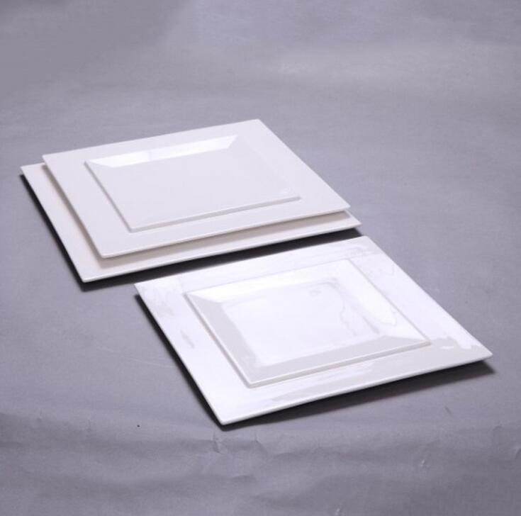Hotel & Restaurant White Square Porceain dinner plate, dinner flat plate