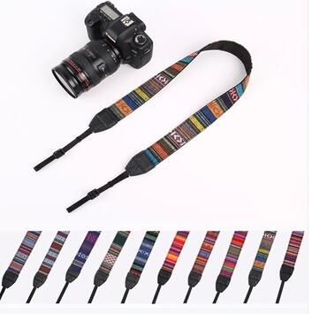 fashion retro jacquard camera belt for camera neck strap make from guangdong dongguan factory