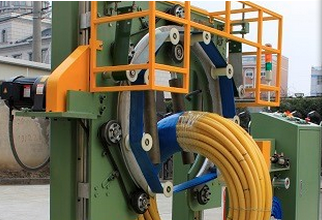 Hose packing machine and PVC pipe coil wrapping machine