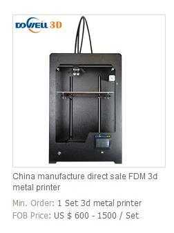 China manufacture direct sale FDM 3d metal printer