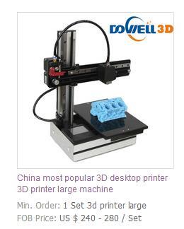 China most popular 3D desktop printer 3D printer large machine