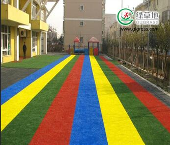 colourful artificial grass turf for kindergarten