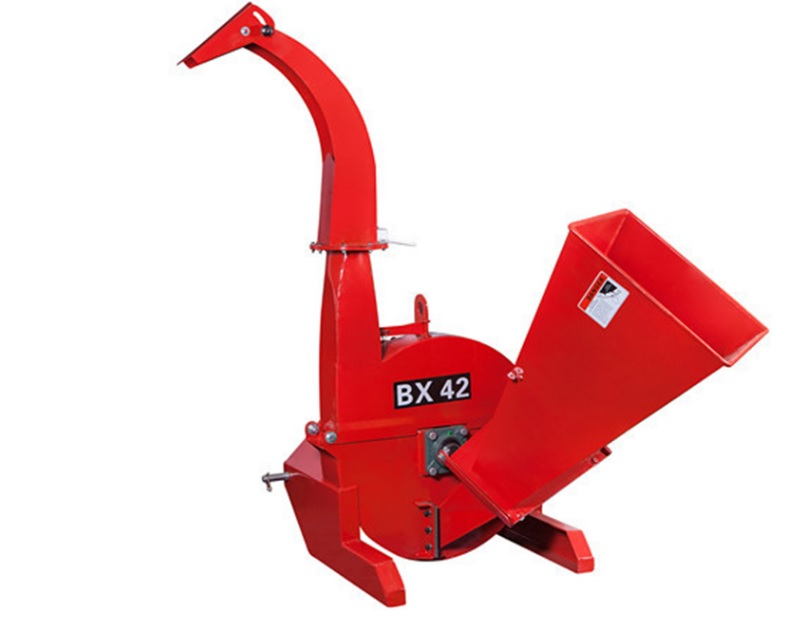 Tractor portable pto wood shredder wood chipper