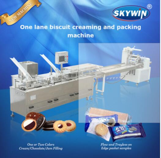 Automatic Small Biscuit Making Machine Price Industry Cookie Biscuit Machine With Cookie Packaging