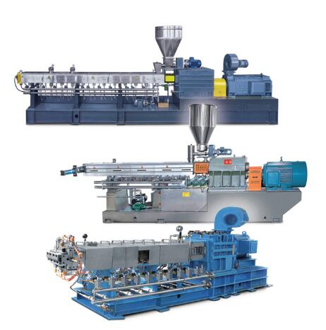 Parallel co-rotating twin screw extruder