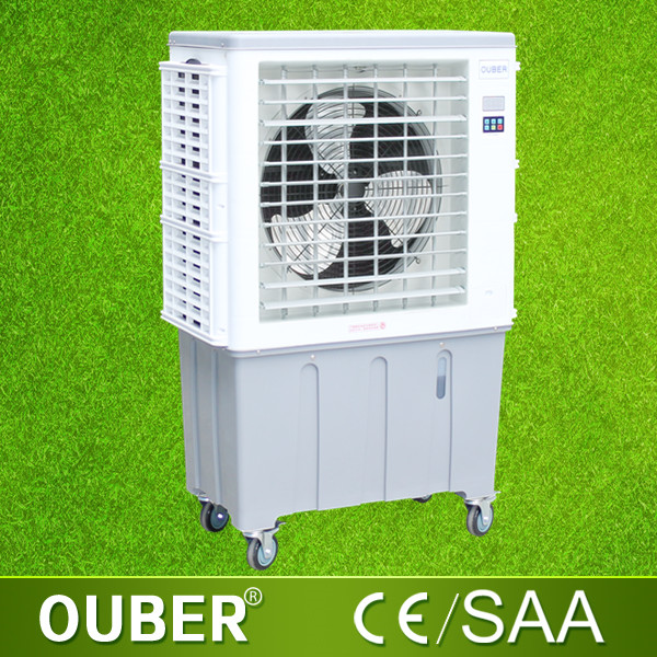 Ouber industrial evaporative air cooler 2016 desert conditioner air water cooler fan better than solar air cooler with 7000m3h