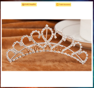 Fashion headwear party crystal crown cheap princess crown