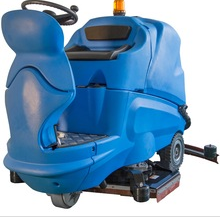 Automatic ride on floor scrubber dryer