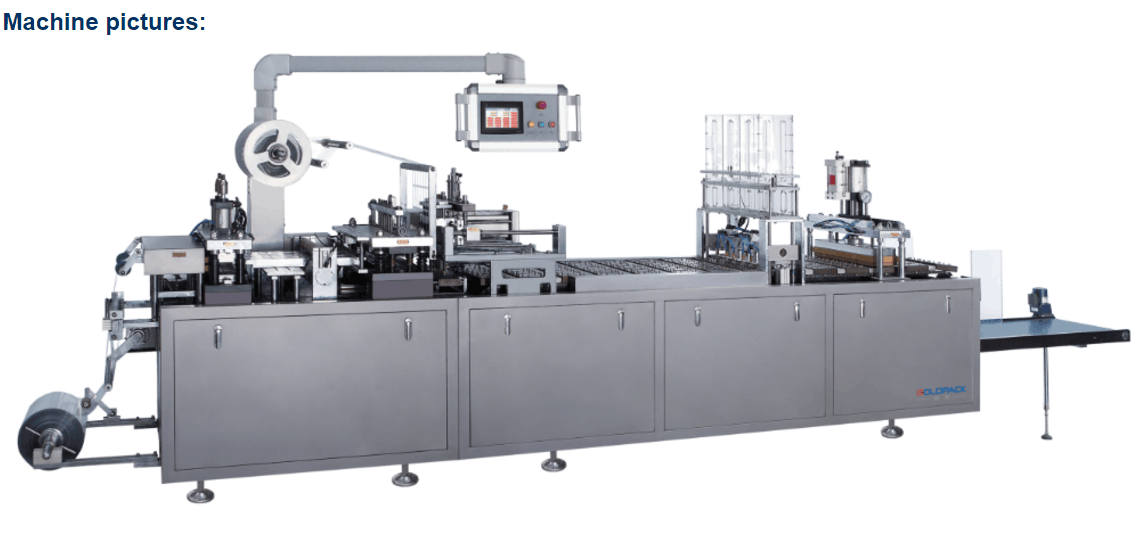 JP-500B Multifunction Paper Plastic Blister Packaging Machine