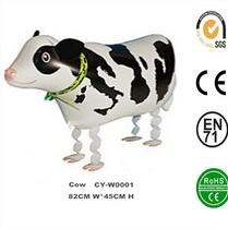 Wholsesale Inflatable Walking Cow Helium Foil Balloon,Walking Pets Foil Balloon,Walking Animal Balloon