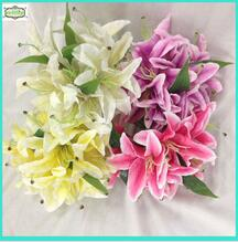 24cm 14 heads hot sale silk artificial lily