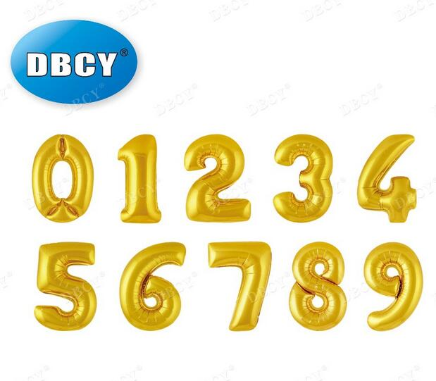 DBCY 16 inch Number Balloons For Decoration