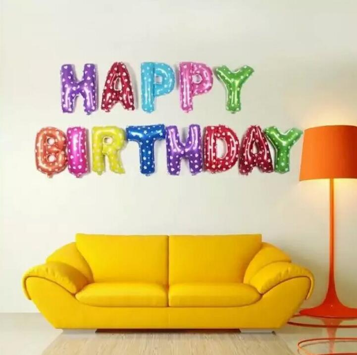 colorful HAPPY BIRTHDAY letter sets
