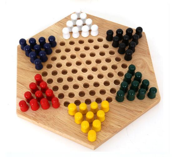 wooden musical instruments play chess game now wooden hexagon draughts Children's early education toy