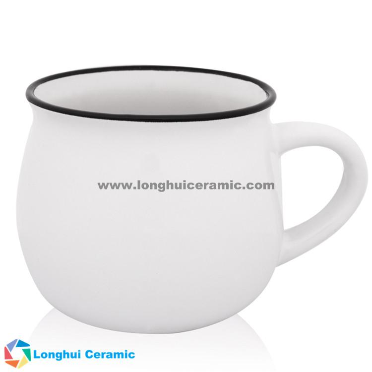 Custom two-tone beige interior color outerior diner campfire coffee mug