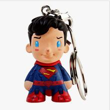 custom cartoon design pvc keychain toys,custom superman figure toy soft pvc cartoon toy keychain