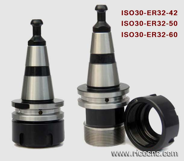 CNC Tool Holders for HSD ISO30 ATC Spindle with Covernut and Pull Stud