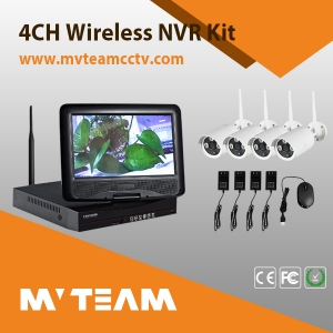 wholesale wireless IP based outdoor home video dvr security camera system(MVT-K04T)