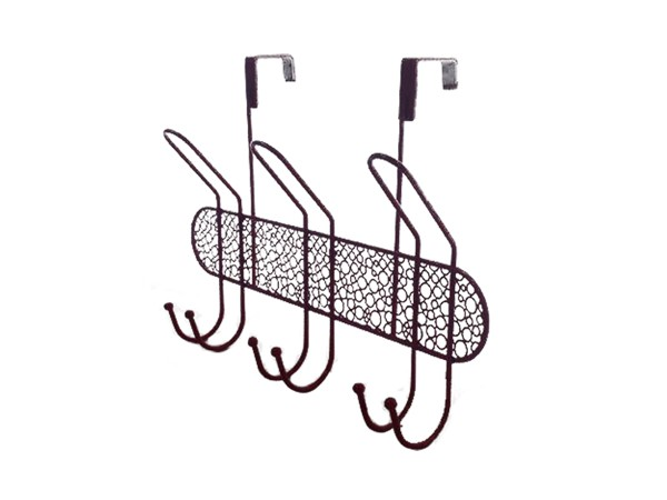 Wall mount metal coat hanger rack