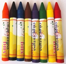 high quality non-toxic colored wax crayon safety for kids-DH0208C