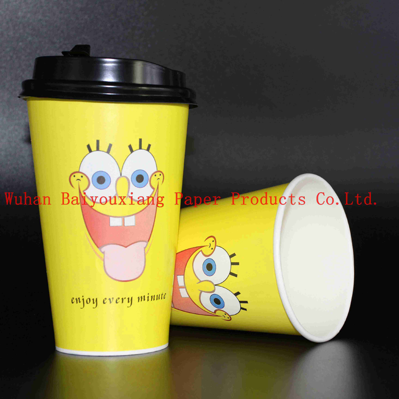 Customized Logo 22oz Disposable double wall paper cup drink cups