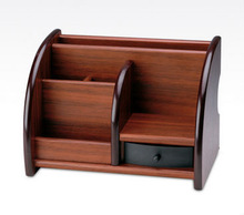 Home Handmade Box Storage ID Credit Card Wooden Remote Control Holder